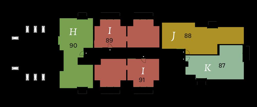 2e verdieping fase 2 plattegrond