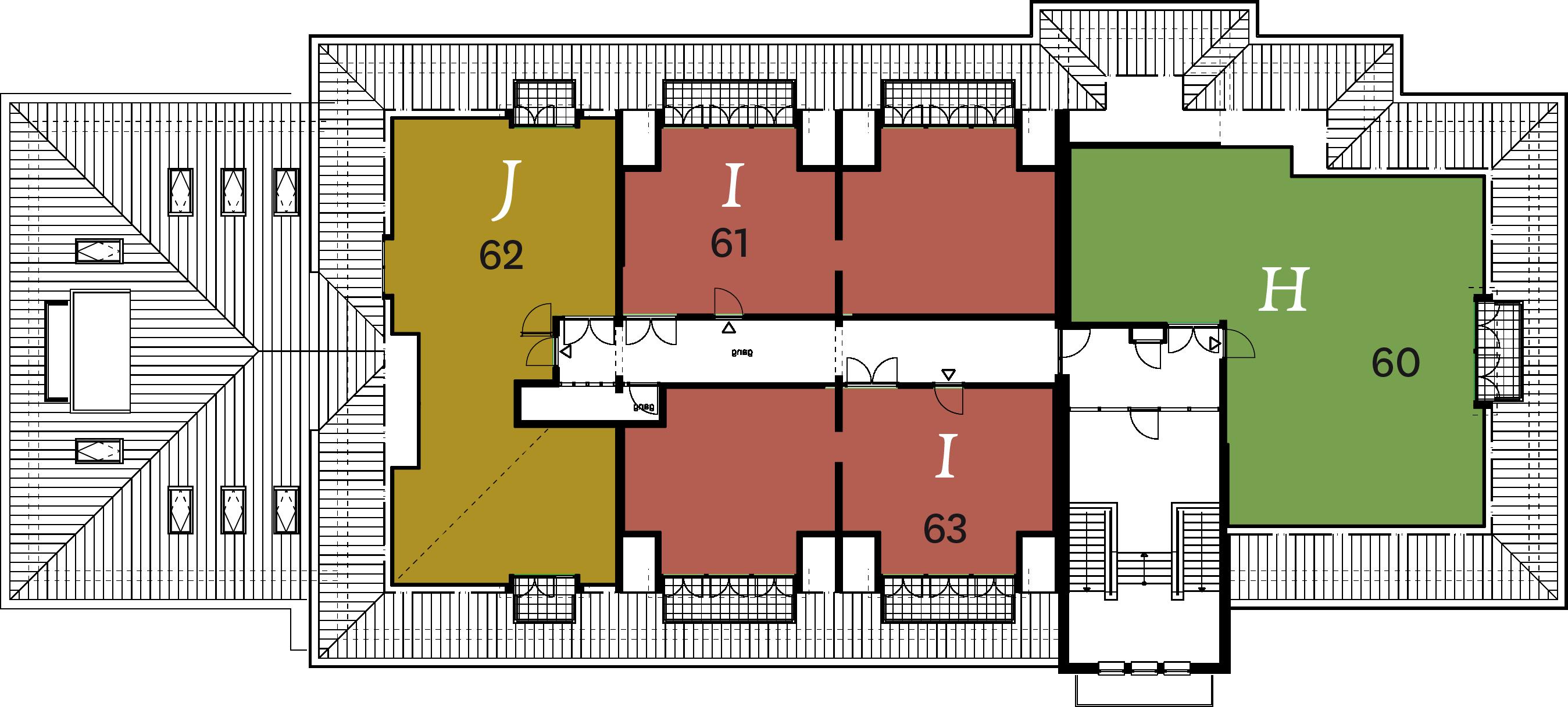 2e verdieping fase 3 plattegrond