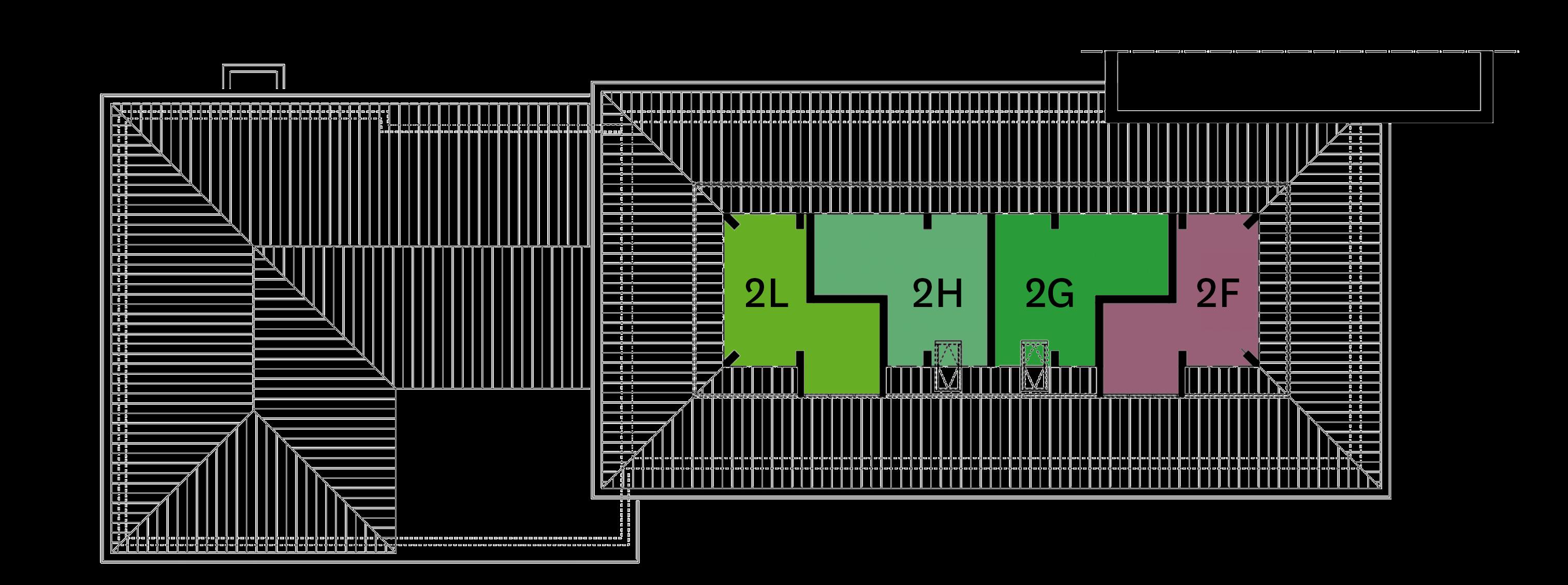 2e verdieping fase 5 plattegrond
