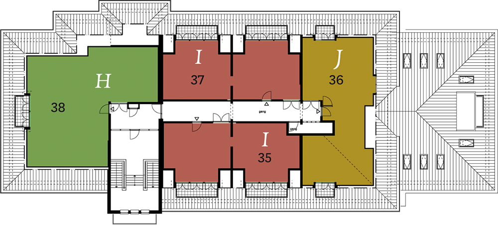 2e verdieping plattegrond
