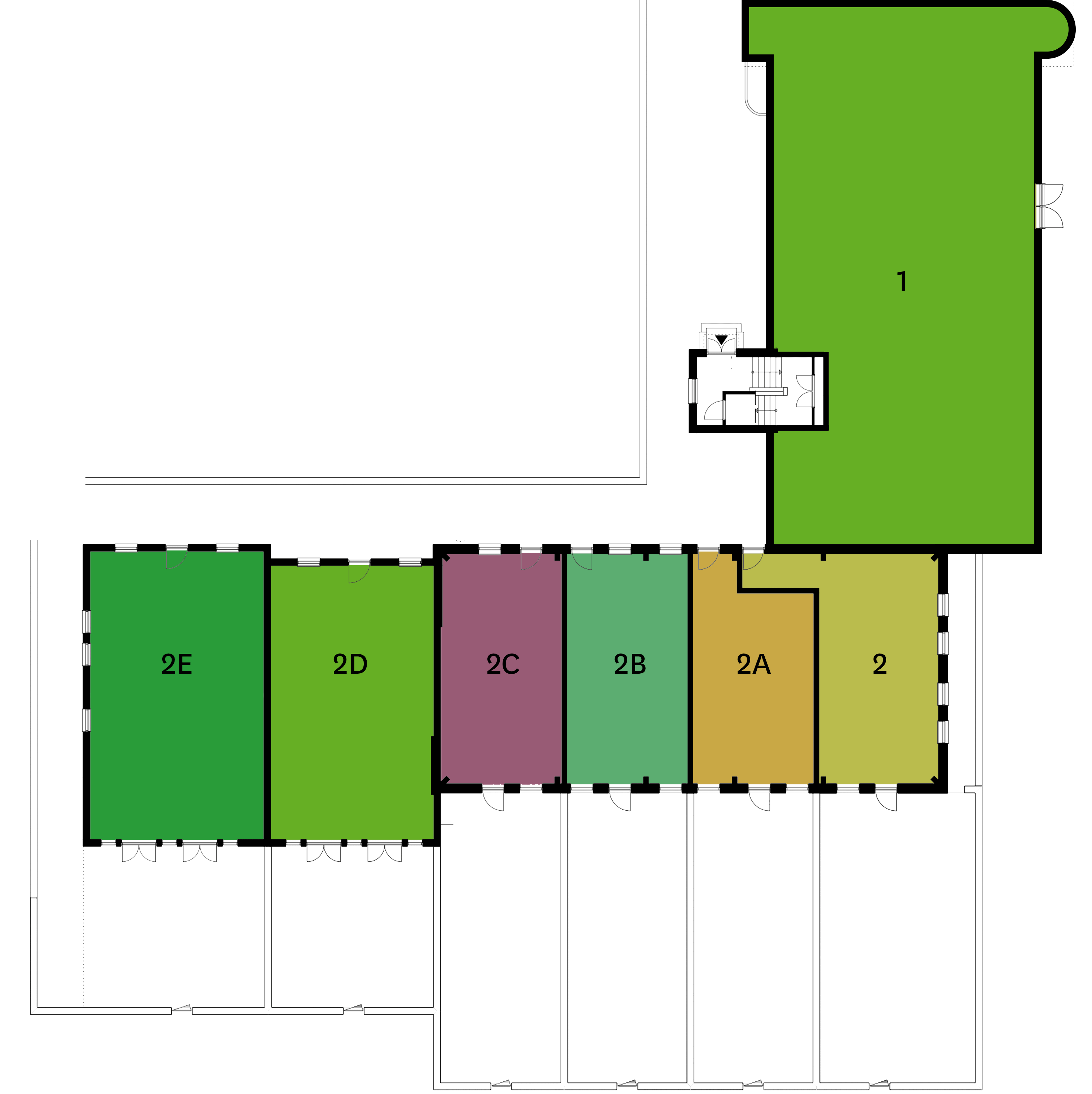 Begane grond fase 5 plattegrond